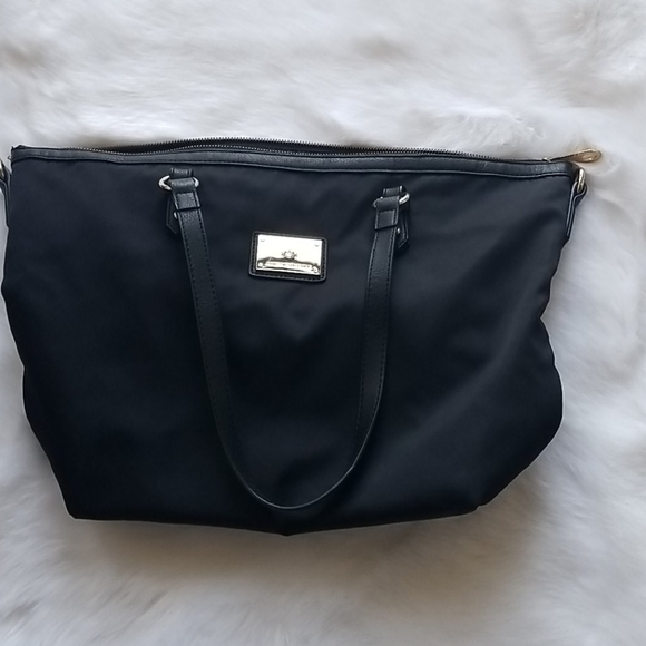Juicy Couture Black Nylon Zippered Tote